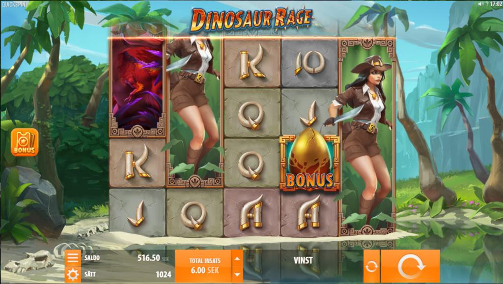 Slots funktioner i dinosaur rage